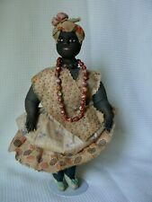 "Antique Rare 12"" Ethnic Black Cloth Doll All Original Clothes W/Fingernails!"