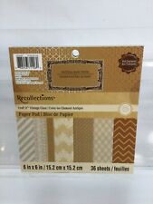 Recollections Vintage Glam Paper Pad 36 Sheets With Treatments 6in x 6in
