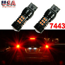 7443 LED Strobe Flashing Blinking Lamp Brake Tail Light Parking Safety Warning