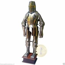 Medieval Knight Full Body Wearable Suit of Armor Combat Crusader Steel Armour