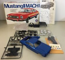 Mustang II Mach I Model Kit Pro Painted Blue Entex 1/24 With Box & Instructions