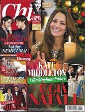 Chi magazine Kate Middleton Maria Callas Sophia Loren Max Biaggi X-Factor Mika
