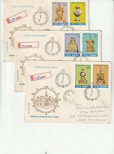 ROMANIA COVER 1988 CLOCKS MUSEUM USED FIRST DAY POST HISTORY PLOIESTI