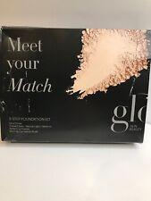 Glo Meet Your Match Foundation Kit Natural Light Medium 3 Step Foundation Ppwder