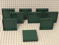 Lego X9 New Dark Green 1x6x5 Panel / Rare Wall Color Bulk Parts Lot