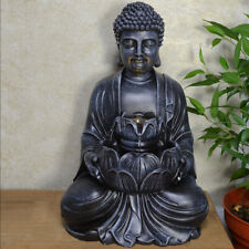 Buddha Holding Flower Water Fountain With Light Perfect Indoor Water Feature