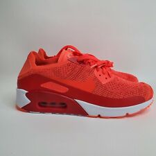 Nike Air Max 90 Ultra 2.0 Flyknit Red Running Shoe 875943-600 Men's Size 10.5