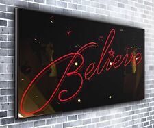 Believe Quote Panoramic Wall Art Canvas Print XXL 4.5 ft wide x 2 ft high