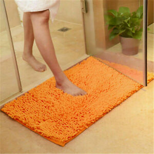 40*60cm Chenille Bathroom Carpet Mat Anti-slip Doormat Rug Bedroom Floor Mat Rug