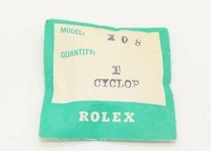 Genuine New ROLEX Date Plastic Crystal 25-108 Antique 6122, 6127, 6294 etc # 671
