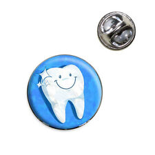 Happy Tooth Dentist Lapel Hat Tie Pin Tack