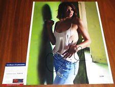 Hot Lauren Cohan Signed 11x14 The Walking Dead Chuck Van Wilder 2 PSA/DNA