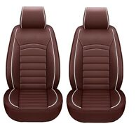Komfort Schonbezüge Braun Sitzbezüge Kunstleder Elegant vordere Sitze Auto PKW