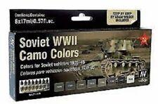 AV Vallejo Model Air Set - Soviet AFV WWII Camo  8 PAINT SET VAL71188