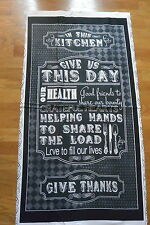 In the Kitchen Give Us This Day Quilt Panel Cotton Fabric Quilting Treasures