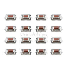 100Pcs SMD Tactile PushButton Key Switch Momentary Tact 2 Pins 3x6x2.5mm TOP