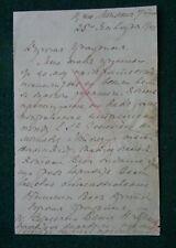 Antique Russian Signed Letter Grand Duke Michael Romanov Wife Countess Brassov