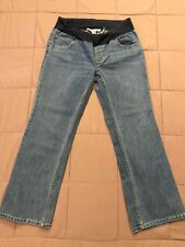 OLD NAVY straight leg denim maternity jeans M Medium L Large 8 10 - Short