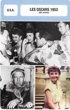 FICHE CINEMA : LES OSCARS 1953 -  USA Zinnemann,Holden,Hepburn