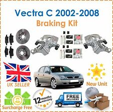For Vectra C 2002-2008 Rear Brake Calipers + Slider Kits + Brake Discs & Pads