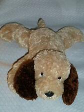 "TARGET CORP - tan & brown dog beanbag floppy - 10""L"