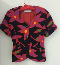 ALLIAGE PARIS FLORAL POP ART BUTTONED TOP - Sz S, Made in France, Pre-owned