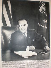Photo article 38th President of the USA Lyndon B Johnson 1964