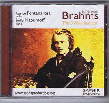 BRAHMS CD (NEW) FONTANAROSA NAOUMOFF 3 VIOLIN SONATAS (SAPHIR)
