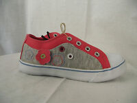 BNWT Little Girls Sz 9 Rivers Doghouse Grey & Pink Slip On Jogger Casual Shoes
