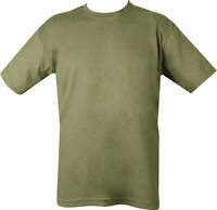 Military ARMY T Shirt OLIVE GREEN 100% COTTON SAS PARA