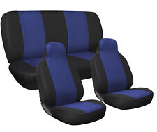Car Seat Covers Blue and Black Complete Full Set For Auto Vehicle Upholstery