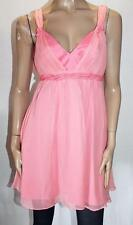 GUESS by Marciano Designer Pink Silk Chiffon Baby Doll Dress Size M BNWT #SH114