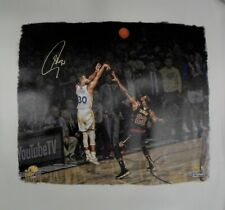 Stephen Curry Signed Autograph 20x24 Canvas Unstretched (Rolled Up)vs Lebron /30