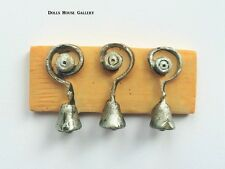 Three Servant Bells,  Dolls House Miniatures, Victorian House Accessory