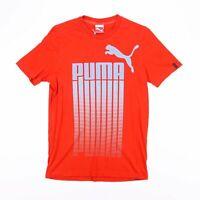 Vintage PUMA Orange & Blue Big Logo Sports T-Shirt Size Men's Small