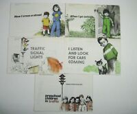 Set 5 AAA Safety Brochures Early Childhood Education Cross Street Vintage 1970 ?