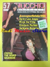 Rivista MUCCHIO SELVAGGIO 57/1982 Ricky Lee Jones Graham Parker Springsteen Nocd