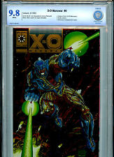 X-O Manowar #0 Valiant Comics Chromium Gold Book 1993 CBCS Graded 9.8 NM/M