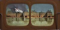 Palais Lussemburgo Parigi Fotografia Colorati Diorama Stereo Vintage