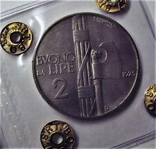BUONO DA 2 LIRE VITTORIO EMANUELE III 1925 FDC
