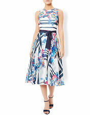 New Monsoon Hallie Soft Summer Fit & Flare 1950s Midi Tea Dress Size 14 BNWT