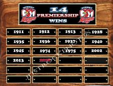 14 PREMIERSHIP WINS ROOSTERS   TIN SIGN CUSTOM MADE