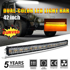 "LED Work Light Bar Car 42"" Inch 2592W Curved Dual color Off road Strobe SUV 4WD"