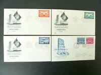 Lot of 4 United Nations First Day Covers - See Description & Images