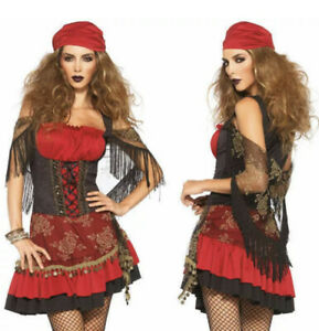 MYSTIC VIXEN Sml 4-6 Costume Gypsy Crystal Ball Fortune Teller Adult Free Ship