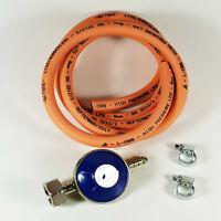 BBQ / Cooker Butane Regulator Gas Hose Kit Clips Heater / 2M Hose Complete Kit