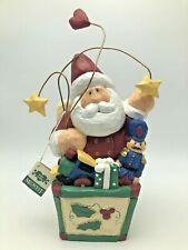 "Midwest of Cannon Falls Signature Santa in Toy Box 9.5"" Figurine Eddie Walker"