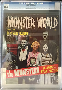 Monster World #2 1/65 CGC 8.0 OW/W Warren Pub Famous Monsters; Low Starting Bid