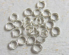 12 pieces of 925 Sterling Silver Split Jump Rings 5 mm NEW 24 gage wire
