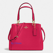 New COACH F57847 Leather Minetta Handbag Crossbody Shoulder Bag Purse Pink